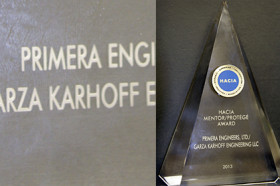 Primera and Garza Karhoff Engineering Receive Mentor-Protégé Award