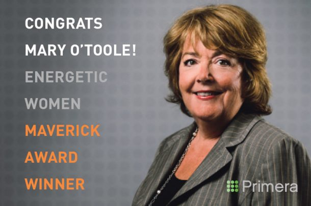 Mary O'Toole Honored by Energetic Women with the 2016 Maverick Award