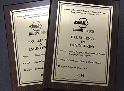 Primera's innovative engineering projects recognized with ASHRAE Excellence in Engineering Awards