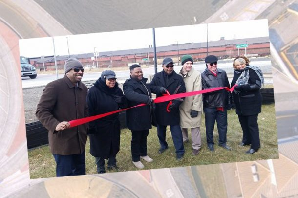 Officials Hold Ribbon Cutting for Aldis Avenue Roundabout in East Chicago, Indiana