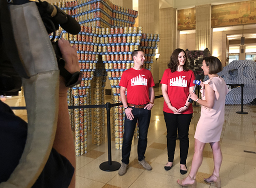 Primera Continues its Support of Canstruction Chicago with Ferris Bueller's Day Off Inspired Structure