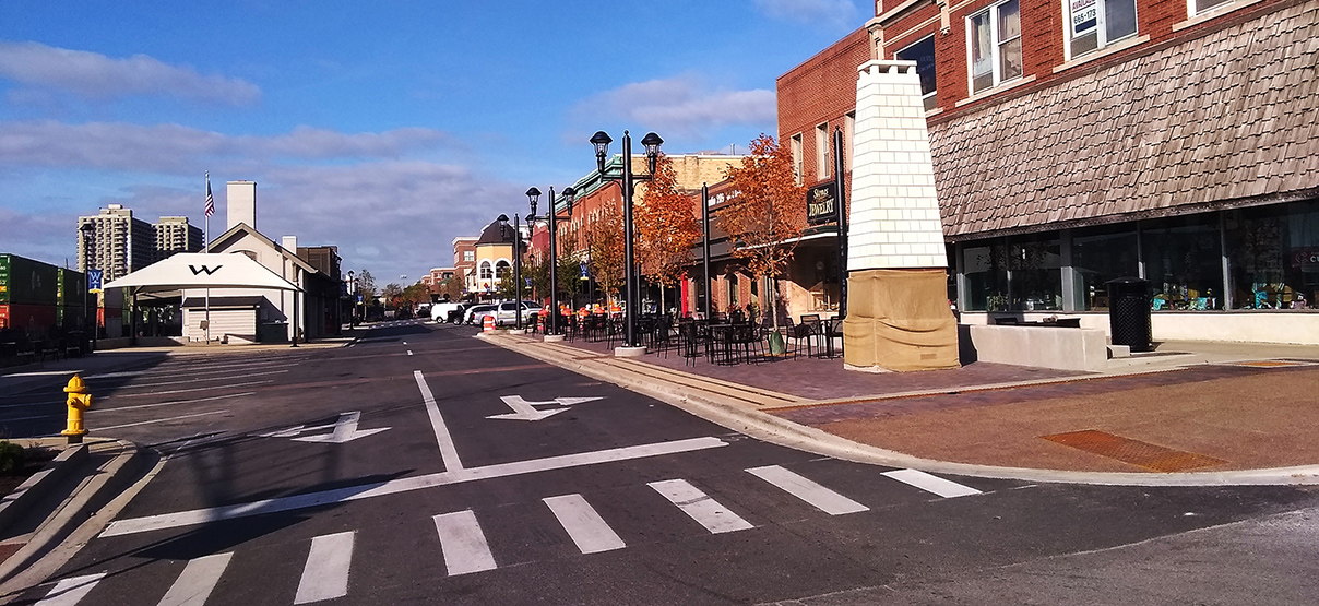 Wheaton Downtown Streetscape