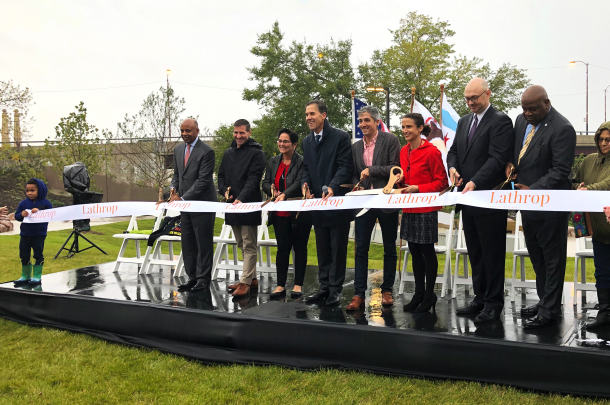 Lathrop Homes and Landscape Project Celebrates Grand Opening Ribbon Cutting Ceremony