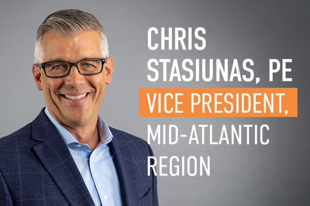 Chris Stasiunas, PE Promoted to Vice President, Mid-Atlantic Region