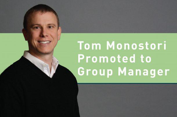 Tom Monostori, PE Promoted to Civil Engineering Group Manager, Utilities